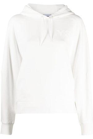 Y-3 Women Hoodies - Logo-print drawstring hoodie