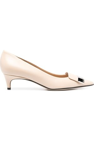 Sergio Rossi Women Heels - Plaque-embellished pumps - Neutrals