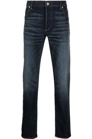 Balmain Men Tapered - Embroidered-logo tapered jeans