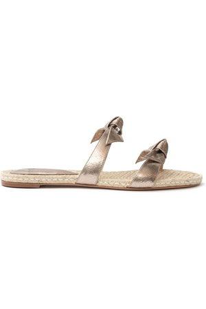 ALEXANDRE BIRMAN Women Sandals - Clarita braided slides - Metallic