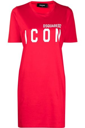 Dsquared2 Women Printed Dresses - Icon print T-shirt dress