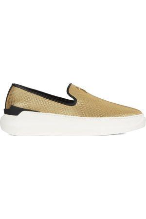 Giuseppe Zanotti Men Flat Shoes - Conley metallic sneakers
