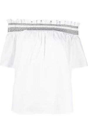 Pinko Off-shoulder smocked blouse