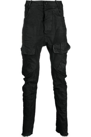 MASNADA Coated skinny-fit trousers
