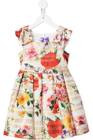 David Charles Stripe floral print dress