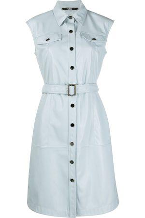 Karl Lagerfeld Women Party Dresses - Belted sleeveless mini dress