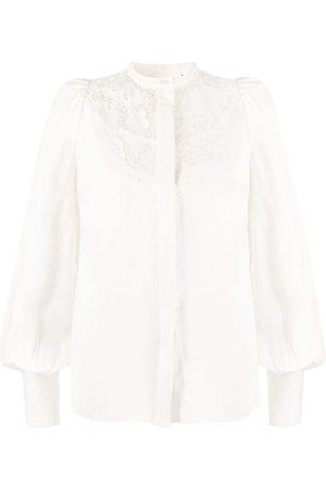 Isabel Marant Floral embroidery bishop sleeves blouse