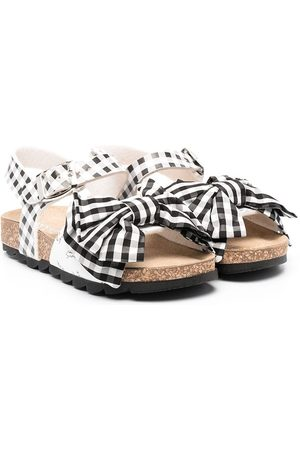 MONNALISA Gingham bow sandals