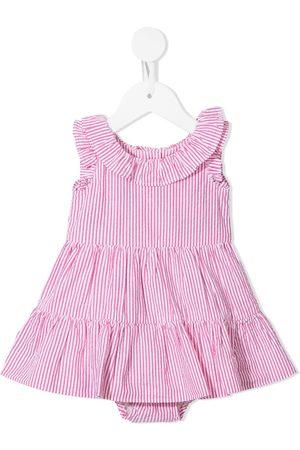 Ralph Lauren Striped ruffle dress