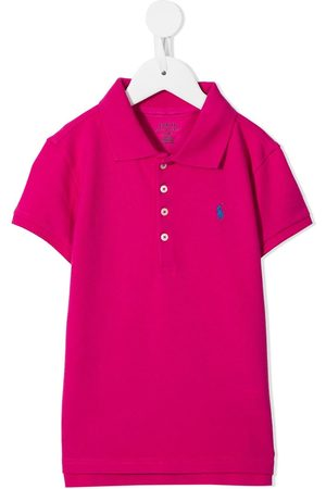 Ralph Lauren Girls Polo Shirts - Logo embroidered polo shirt
