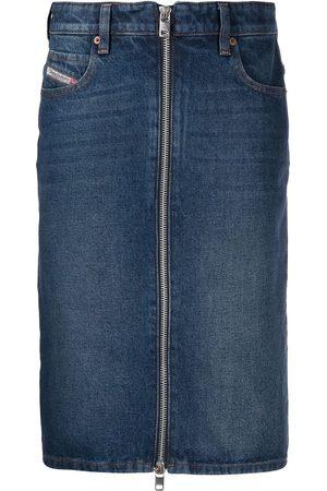 Diesel Stonewashed denim skirt