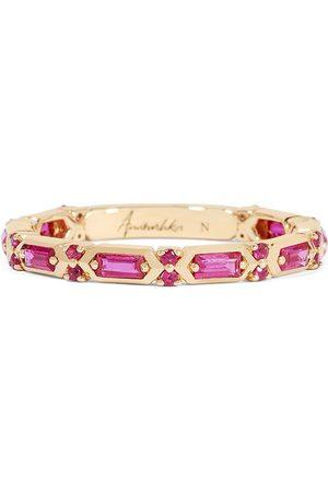ANNOUSHKA Women Rings - 18kt yellow gold sapphire baguette band ring