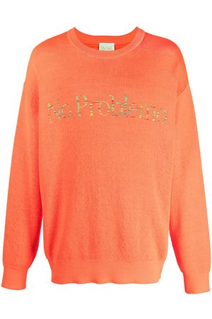 ARIES Logo-print round neck sweatshirt