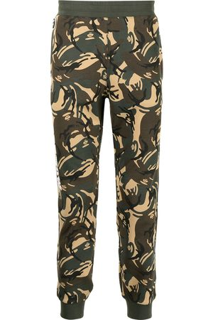 AAPE BY A BATHING APE Men Sweatpants - Camouflage print track trousers