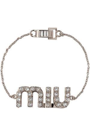 Miu Miu Crystal-embellished logo bracelet