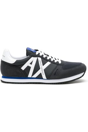Armani Lace-up logo detail sneakers