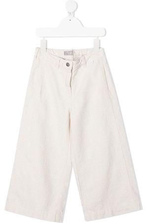 Il gufo Girls Straight Leg Pants - Mid-rise straight-leg trousers - Neutrals