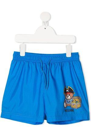 Moschino Teddy bear-print swim shorts