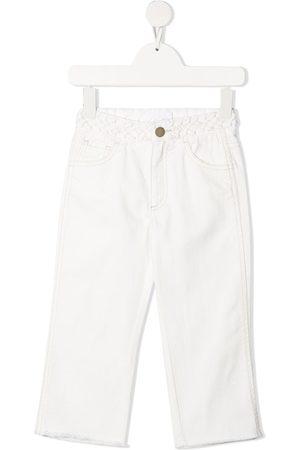Chloé Girls Straight - Braided-edge mid-rise straight-leg jeans