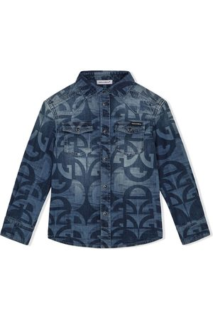 Dolce & Gabbana Monogram pattern denim shirt