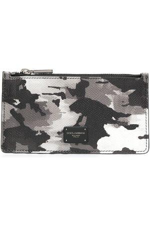 Dolce & Gabbana Dauphine camouflage-print cardholder - Grey