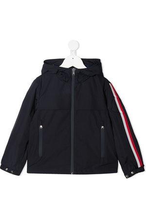 Moncler Vaug striped-trim hooded jacket