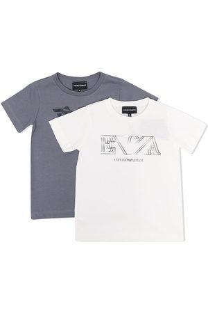 Emporio Armani Boys Short Sleeve - Logo-print short-sleeved T-shirt