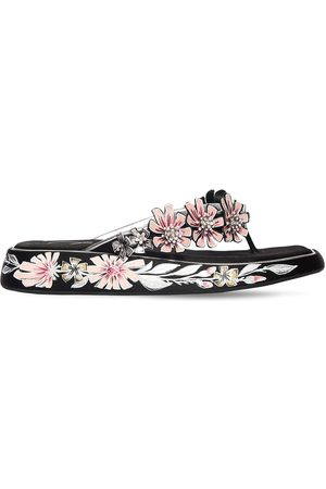 Roger Vivier 35mm Embellished Satin & Leather Sandals