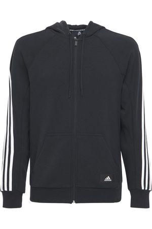 adidas Cotton Blend Zip-up Sweatshirt Hoodie