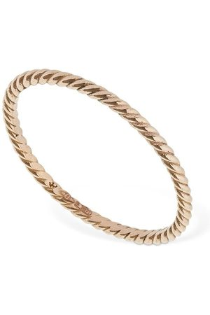 AG Women Rings - 18kt Slim Braid Chain Ring