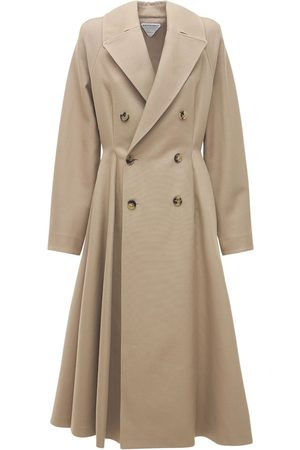 Bottega Veneta Double Cotton Canvas Trench Coat