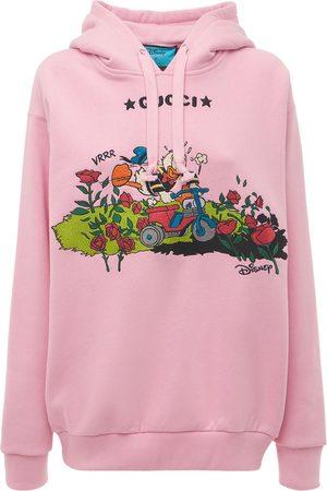 Gucci Women Hoodies - Oversize Disney X Cotton Hoodie