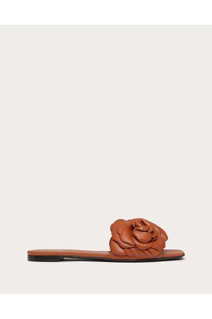 VALENTINO GARAVANI Women Sandals - Atelier Shoes 03 Rose Edition Slide Sandal Women Tan 100% Pelle Di Vitello - Bos Taurus 35