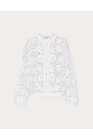 VALENTINO Women Cardigans - Cardigan In Cotton And Embroidered Lace Women Viscose 43%, Cotton 34% L