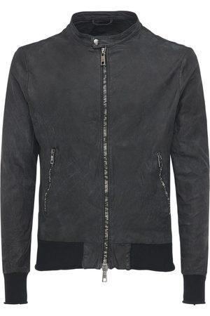 GIORGIO BRATO Leather Biker Bomber Jacket