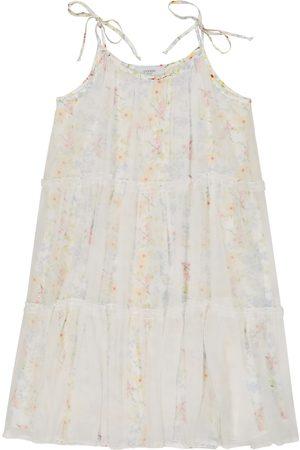 PAADE Girls Printed Dresses - Iris floral silk chiffon dress