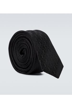 Saint Laurent Men Neckties - Patterned silk tie