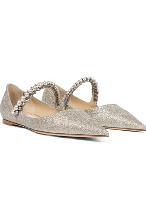 Jimmy Choo Baily embellished glitter ballet flats