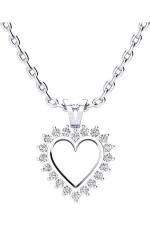 SuperJeweler 1/4 Carat Classic Diamond Heart Necklace in 1.4 Karat ™ (