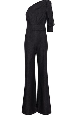 Safiyaa Gia stretch-denim jumpsuit