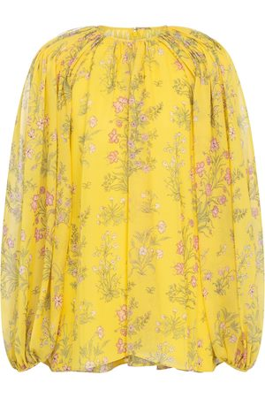 Giambattista Valli Floral silk georgette blouse