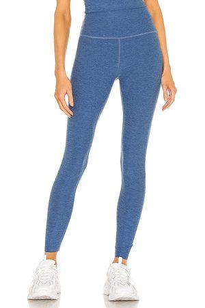 Beyond Yoga Women Leggings - Spacedye Caught in the Midi High Waisted Legging in Blue.