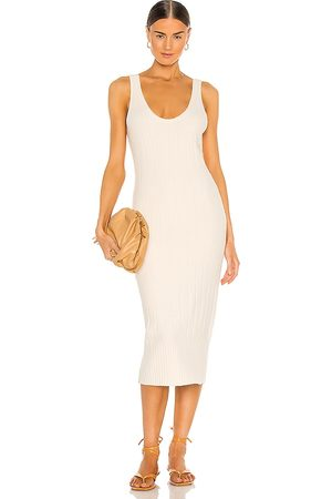 Weekend Stories Loreo Knit Dress in Ivory.