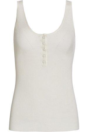 Altuzarra Women Tank Tops - Women's Daphne Wool & Cashmere Tank Top - Ivory - Size Medium