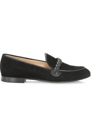 Gianvito Rossi Women Loafers - Women's Braided Suede Loafers - - Size 10.5