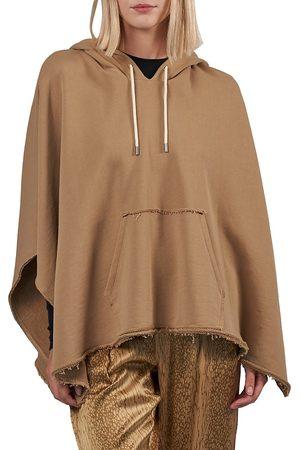 ATM Anthony Thomas Melillo Women's Oversized French Terry Hooded Poncho - Dune