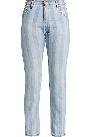 RE/DONE Women's 70s Straight Jeans - Indigo Stripe - Size Denim: 32
