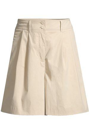 REBECCA TAYLOR Women Shorts - Women's Lightweight Wide-Leg Shorts - Khaki - Size 4
