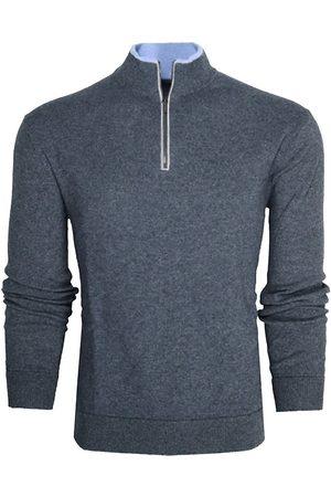 GREYSON Men Tops - Men's Sebonack Quarter-Zip Pullover - Dark Grey Heather - Size XXL