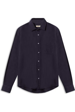 Burrows and Hare Burrows & Hare Textured Shirt - Navy